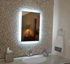 sliding bathroom mirror:  interior bathroom mirror with led lights custom sliding glass doors house interior paint ideas
