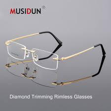 2019 Optical <b>Glasses</b> Man Woman <b>Diamond Trimming Cutting</b> ...