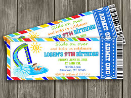 birthday pool party invitations a scart com printable pool party birthday invitations