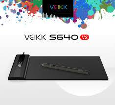 <b>VEIKK S640</b> graphic Pen tablet 6 <b>x 4</b> inch Ultra Thin OSU New ...