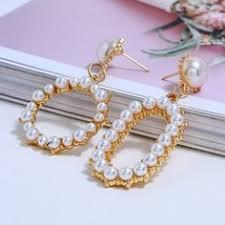 2019 Natural Shell Earrings Women Gold Color Geometric Irregular ...
