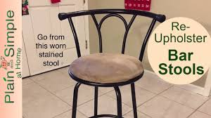 DIY Bar <b>Stool</b> Reupholster - YouTube