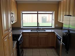 How To Finance Kitchen Remodel Kitchen Small U Shaped Kitchen Remodel With Nice Window Design