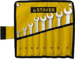 <b>Набор</b> гаечных комбинированных ключей 6-17мм, <b>8шт STAYER</b> ...
