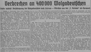 germans from russia heritage collection a news clipping from the nazi organ ostdeutscher beobachter number 251 19 1941 printed in poznan