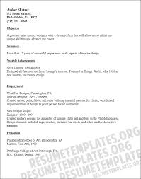 career objective for resumes  interior design resume objective    interior design resume objective