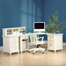 white wooden computer table with built corner desk home