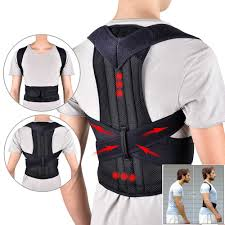 New <b>Back Waist</b> Posture Corrector Adjustable <b>Adult</b> Correction <b>Belt</b> ...