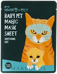 Holika Holika Baby Pet Magic Mask Sheet Soothing <b>Cat</b> - <b>Тканевая</b> ...
