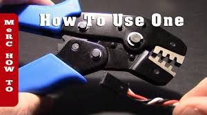 How to use a Servo Cable <b>Crimping Tool</b> - For RC Fumblers (reduce ...