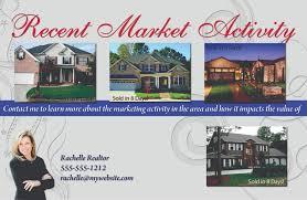 real estate marketing postcards flyers brochures for real estate market activity postcards