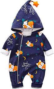 Baby <b>Zipper</b> Clothes <b>Stylish</b> Fox Design <b>Long</b>-Sleeve <b>Hooded</b> ...