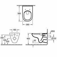 <b>Унитаз подвесной Villeroy&Boch O</b>.<b>novo</b> 5660HRR1, цена 23280 ...