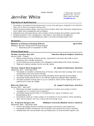 Nursing Student Resume Sample  sample nursing resumes experienced