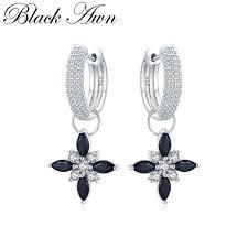 <b>Black Awn</b> Classic 100% <b>Genuine 925</b> Sterling Silver Jewelry <b>Black</b> ...