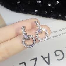 Crystal <b>micro</b>-<b>inlay</b>-<b>925 silver needles 925 Silver Needles</b> Inlaid ...