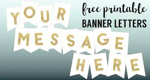 Gold Free Printable <b>Banner Letters</b> - Paper Trail Design