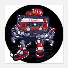 <b>Zombie Cassette</b> Hip Hop Mixtape. Posters | Spreadshirt | Hip hop ...