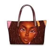 <b>Whereisart black art afro</b> prints african large women messenger bag ...