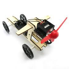 <b>Mini Wind Powered Toy</b> DIY Car Kit Children Educational Gadget ...