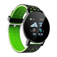 Smart Watch Men <b>119 Plus</b> Sports Heart Rate <b>Smart Bracelet</b> Round ...