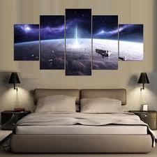 <b>YSDAFEN 5 Panel Modern</b> Cosmic Planet Hd Canvas Art for Living ...
