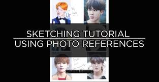 tutorial how to sketch a face using photo references bts tutorial how to sketch a face using photo references bts speedpaints photo reference photos and how to sketch