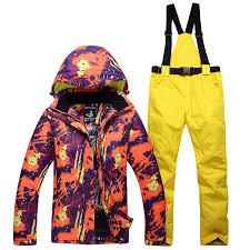 NEW Skiing suits Jackets <b>women</b> men <b>Snowboarding Sets winter</b> ...
