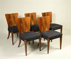 art deco dining table with five chairs by jindrich halabala art deco dining