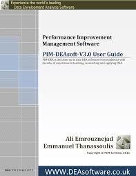 <b>Performance</b> Improvement Management Software: PIM-DEAsoft-<b>V3</b> ...