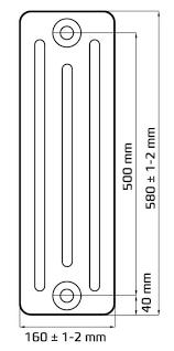 <b>TOULON RETROstyle 500/160</b> | Чугунные <b>радиаторы</b> Ретро ...