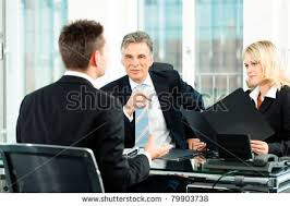 business young man sitting in job interview business nap office relieve