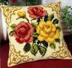 Вышивка крестом диванные подушки схема