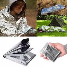5Pcs rescue <b>emergent blanket</b> survive thermal tent mylar <b>lifesave</b> ...