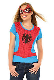 Womens Adult Spider Girl T-Shirt and Mask Set ... - Amazon.com