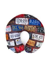<b>Подушка</b> дорожная для шеи, серия Travel, дизайн License plates ...