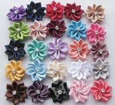 <b>50pcs Mini Satin Ribbon</b> Flowers Bows Wedding Decoration Gift Craft