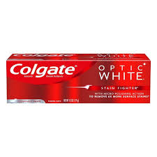 Colgate Optic White Toothpaste, Anticavity Fluoride, Clean Mint, Paste