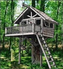 Treehouse  amp  Playhouse Design   Custom Design Your Treehouse Or    Architectural Rendering