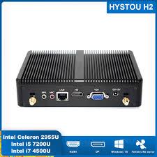 Topton безвентиляторный мини ПК <b>Nuc Intel</b> i7/i5 7200U i3 7167U ...