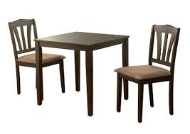 three piece dining set: amazoncom metropolitan  piece dining set finish espresso table amp chair sets