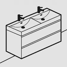 rhodes pursuit mm bathroom vanity unit: roper rhodes furniture double basin units  roper rhodes furniture