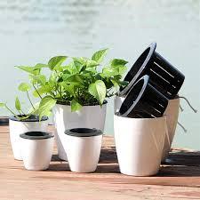 NicSO 2Pcs Plastic Self Watering Planter Pot <b>Succulent</b> Plant Pot ...