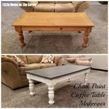 coffee table chalk paint makeover little house on the corner chalk paint coffee table