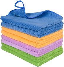 <b>8PCS Microfiber</b> Cleaning Rags for House - Soft Micro Fiber Towels ...