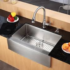 classic stainless steel sink combines fashion kraus khf   inch farmhouse apron single bowl  gauge stainless steel ki