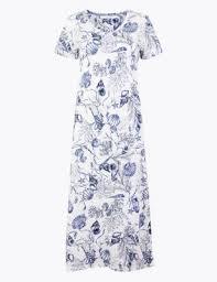 Cool <b>comfort</b>™ <b>Cotton</b> Modal Shell <b>Nightdress</b> | M&S Collection | M&S