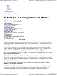 killer job interview questions and answers the best bebasngomong com future plans job interview questions killer job interview questions and answers the best interview evaluation