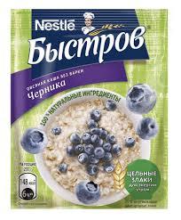 Каша овсяная «Быстров» <b>черника</b>, 240 г - купить по цене 140 руб ...