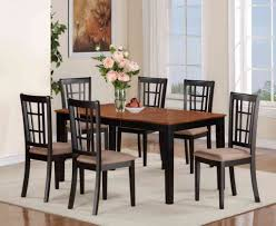 black kitchen dining sets: center kitchen dinette sets with  chairs and single wood table apple space
